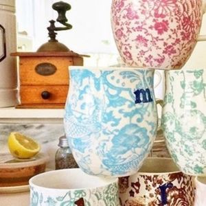 "Anthropologie Homegrown ""M"" Mug"